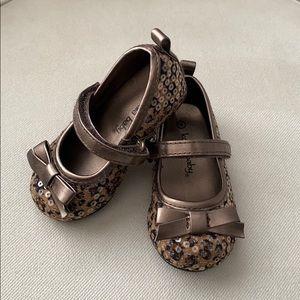 Koala Baby Leopard Dress Shoes. Size 4